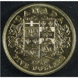 Canada Five Dollar Gold, 1912