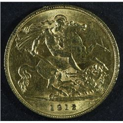Great Britain Half Sovereign, 1912