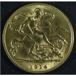 Great Britain Half Sovereign, 1914