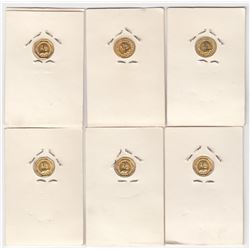 USA Lot of 6 California Gold Replica Tokens
