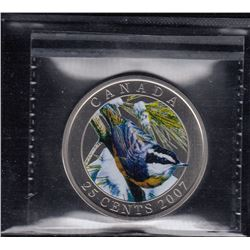 Canada 2007 Nuthatch 25 Cents