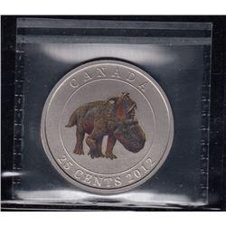 Canada 2012 Pachyrhinosaurus 25 Cents