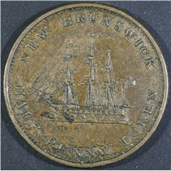 Province of New Brunswick Halfpenny, 1843
