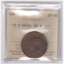 BR 912. Province of New Brunswick Halfpenny, 1854