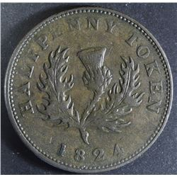 Province of Nova Scotia Halfpenny, 1824