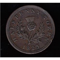 Province of Nova Scotia Halfpenny, 1823