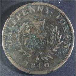 Province of Nova Scotia Halfpenny, 1840