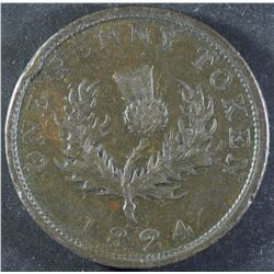 Province of Nova Scotia One Penny, 1824