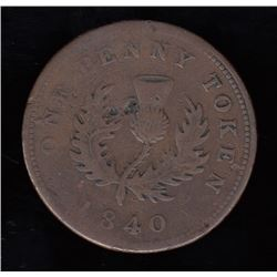 Province of Nova Scotia One Penny, 1840