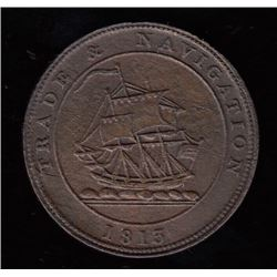 Nova Scotia Trade & Navigation Halfpenny, 1813