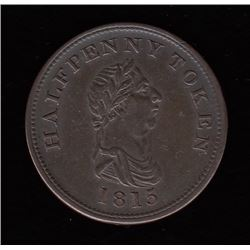 Province of Nova Scotia Halfpenny Token, 1815
