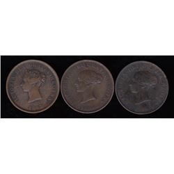 New Brunswick Tokens One Penny Tokens - Lot of 3