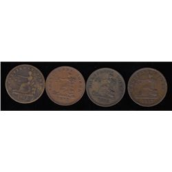 Tiffin Tokens - Lot of 4