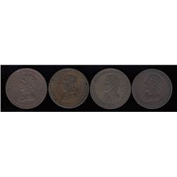 Wellington Tokens - Lot of 4