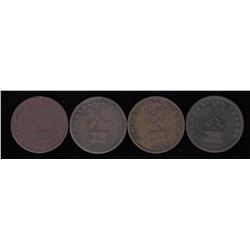 Upper Canada Tokens - Lot of 4