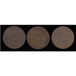 Upper Canada Tokens - Lot of 3