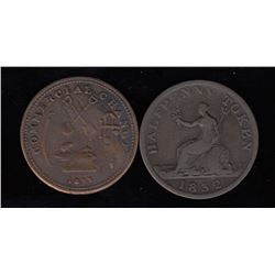 Upper Canada Tokens - Lot of 2