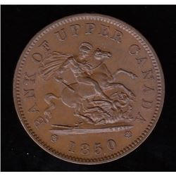 Bank of Upper Canada, 1850 - with dot One Penny.