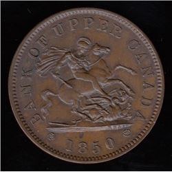 Bank of Upper Canada, 1850 - One Penny.