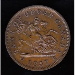 Bank of Upper Canada, 1857 - One Penny.