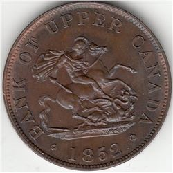 Bank of Upper Canada, 1852 - One Half-Penny.