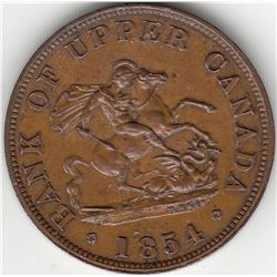 Bank of Upper Canada, 1854 - One Half-Penny.
