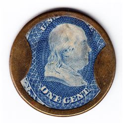 Encased Postage Stamp
