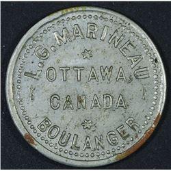 Canada - Ontario Merchant Token, L.G. Marineau 1/2 Pain, BR 742