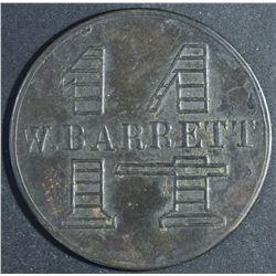 Canada - Ontario Merchant Token, W. Barrett 1 Loaf, BR 747