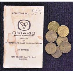 Canada - Ontario Lot of Tokens