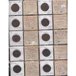 Group of 20 tokens with historical provenances.