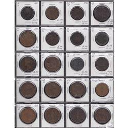 Lot of 46 pre-confederation tokens.