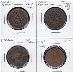 Lot of four counterstamped pieces, including two Devins & Bolton.