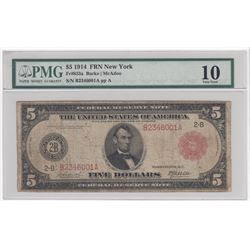 United States of America - $5 1914 FRN - PMG VG 10