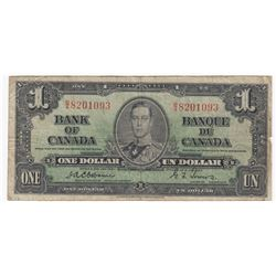Bank of Canada $1, 1937 - Osborne Signature