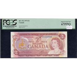 Bank of Canada $2, 1974 Radar