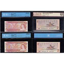 Bank of Canada Lot of 11 Graded Notes