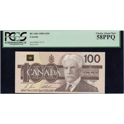 Bank of Canada $100, 1988 Radar