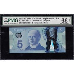 Bank of Canada $5, 2013 Replacement Note