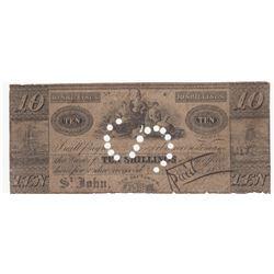 5 & 10 Shillings Saint John New Brunswick