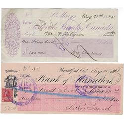 CANADIAN BANK CHEQUES