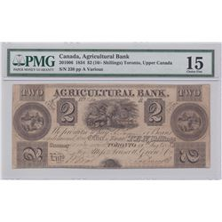 Agricultural Bank $2, 1834