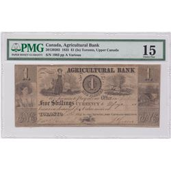 Agricultural Bank $1, 1835