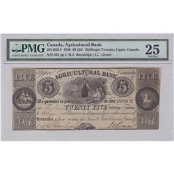 Agricultural Bank $5, 1836
