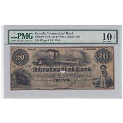 International Bank $20, 1859