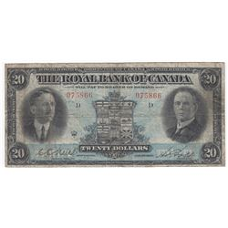 Royal Bank of Canada $20, 1927