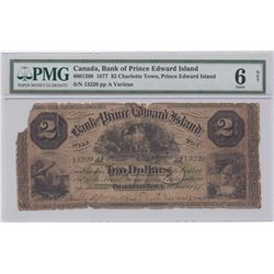 Bank of Prince Edward Island $2, 1877