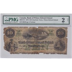 Bank of Prince Edward Island $10, 1872