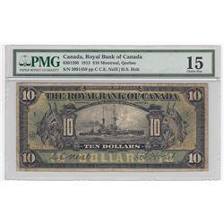 Royal Bank of Canada $10, 1913