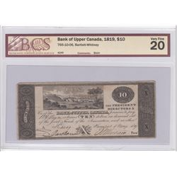 Bank of Upper Canada $10, 1819